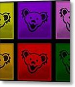 Greatful Dead Dancing Bears In Multi Colors Metal Print