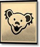 Greatful Dead Dancing Bears In Sepia Metal Print