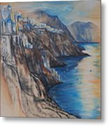 Greek Coast Metal Print