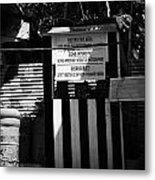 greek cypriot military position overlooking restricted area of the UN buffer zone Metal Print