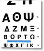Greek Eye Chart Metal Print