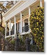 Greek Revival And The Tiny Pink Shoe - Garden District New Orleans Metal Print
