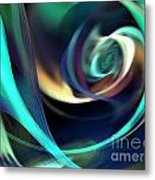 Green And Blue Lines Metal Print