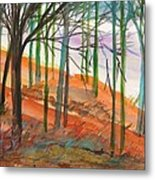 Green And Blue Trees Metal Print