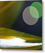 Green And Gold Abstract Metal Print