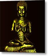 Green And Gold Buddha Metal Print