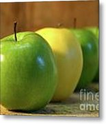 Green And Yellow Apples Metal Print by Sandra Cunningham
