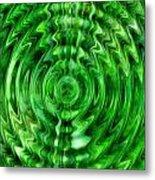 Green As Grass Metal Print