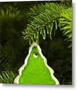 Green Branches Of A Christmas Tree Metal Print