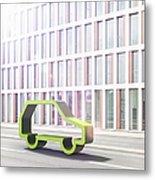 Green Car Metal Print