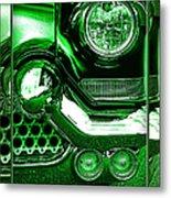Green Chrome Metal Print