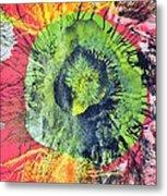 Green Dot Metal Print