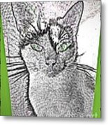 Green Eyed Monster Metal Print