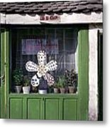 Green Facade With Buttons. Belgrade. Serbia Metal Print