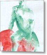 Green Figure Metal Print