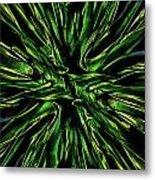 Green Garden Abstract Metal Print