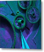 Green Gears Metal Print by Ron Schwager