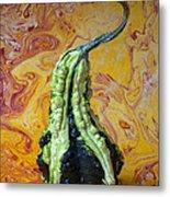 Green Gourd Metal Print