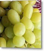Green Grapes And Purple Mum Metal Print