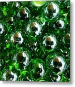 Green Marbles Metal Print