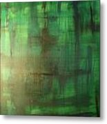 Green Meadow Metal Print by Derya  Aktas