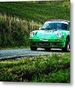 Green Porsche Metal Print