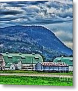 Green Roofed Barn-hdr Metal Print