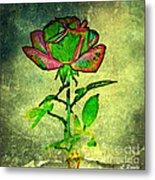 Green Rose Metal Print