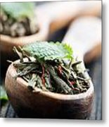 Green Tea Metal Print