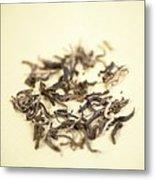 Green Tea Leaves Metal Print