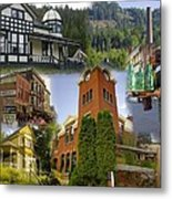 Greenwood Collage With Geppetto Metal Print
