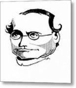 Gregor Mendel, Caricature Metal Print by Gary Brown