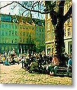 Grey Brothers Square I Metal Print