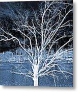 Grey Magical Tree Metal Print