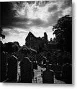 Greyabbey Abbey And Graveyard Cemetary County Down Ireland Metal Print