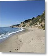 Greyhound Rock State Beach Panorama - Santa Cruz - California Metal Print by Brendan Reals