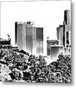 Griffith And Los Angeles Etched Metal Print