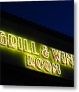 Grill And Wine Metal Print by Christopher Kerby