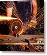 Grinder In Action Metal Print by Gualtiero Boffi