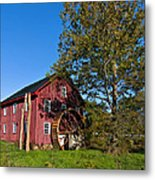 Grist Mill Painted Metal Print