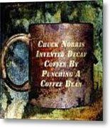 Gritty Chuck Norris 2 Metal Print