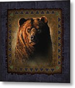 Grizzly Lodge Metal Print