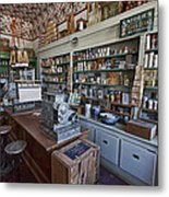 Grocery Store Of Yesteryear - Virginia City Montana Ghost Town Metal Print