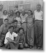Group Of Jewish Immigrants Harvesting Metal Print