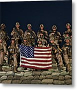 Group Photo Of U.s. Marines Metal Print