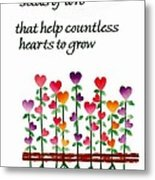Growing Hearts Metal Print