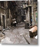 Grubby, Urban Alleyway In Chongqing Metal Print