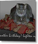 Grumpy Cat Birthday Card Metal Print