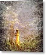 Grunge Light House Metal Print