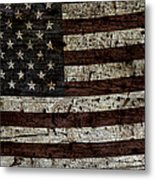 Grungy Wooden Textured Usa Flag2 Metal Print